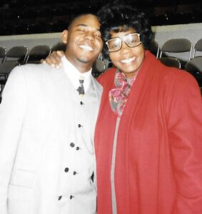 Afraid to Walk Blog : Overcoming Fear by Louis Armstrong Impersonator John Redmon : Photo Still with Mother Cynthia Redmon